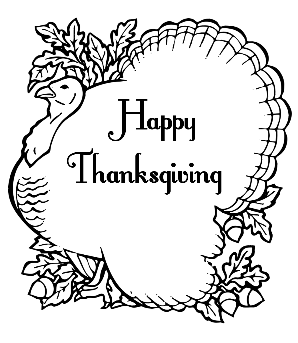 thanks giving coloring pages - photo #2