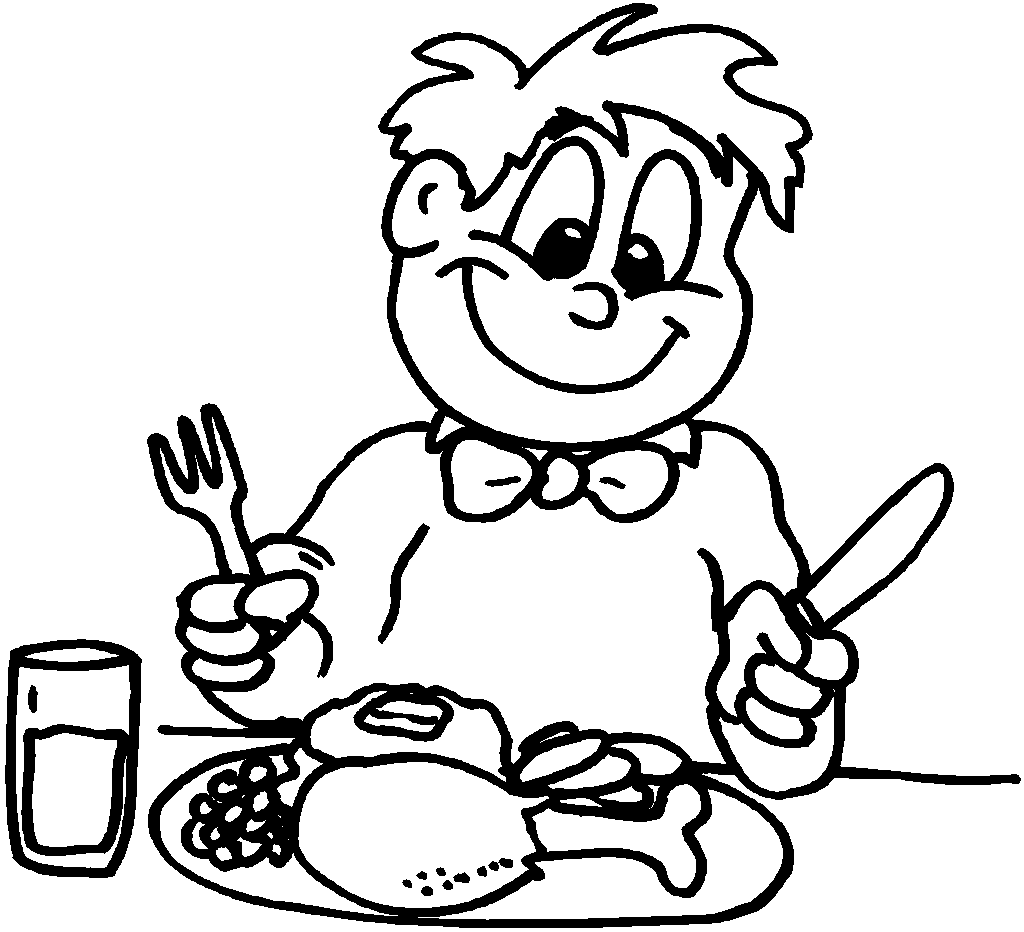 Thanksgiving Coloring Pages | Coloring Pages To Print Child Eating ...