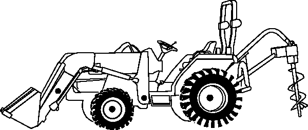 tractor coloring pages 2