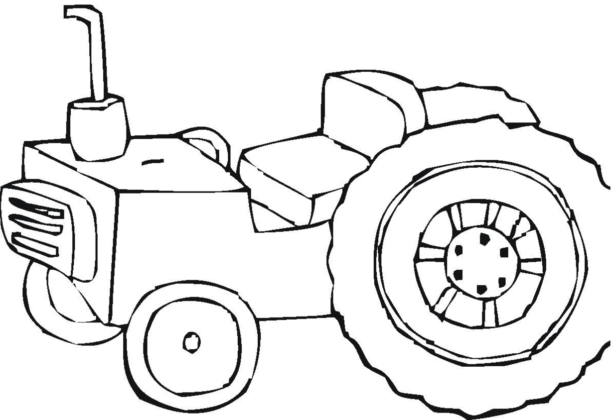 Toddler coloring pages of tractors - Tractor Coloring Pages 1