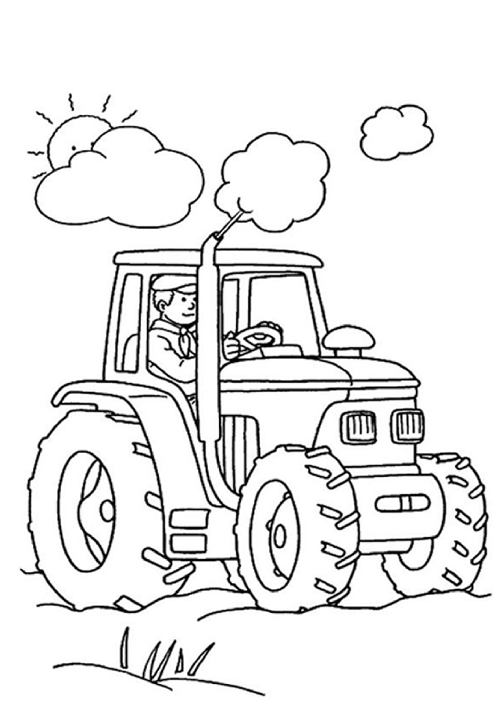 Displaying 19> Images For - Tractor Clipart For Kids...