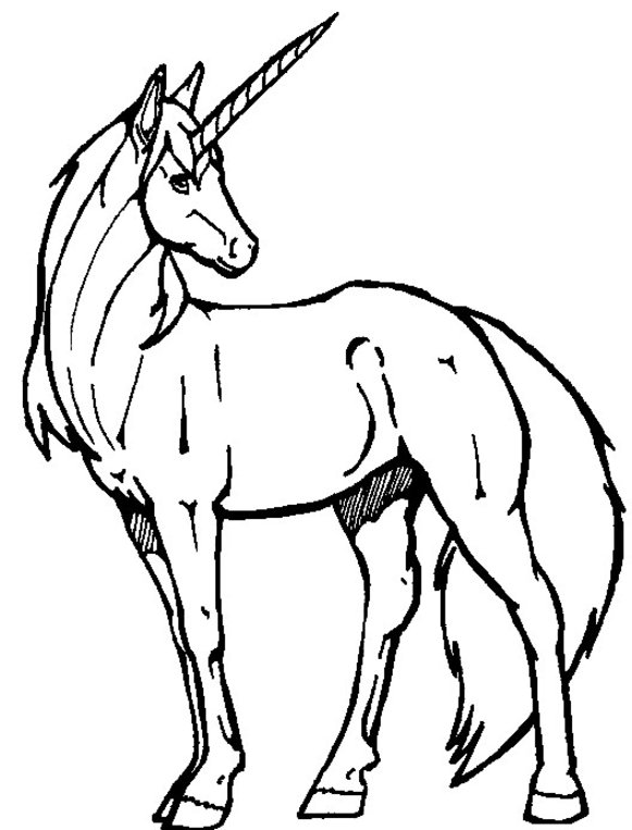 Unicorn Coloring Pages 3 | Coloring Pages To Print