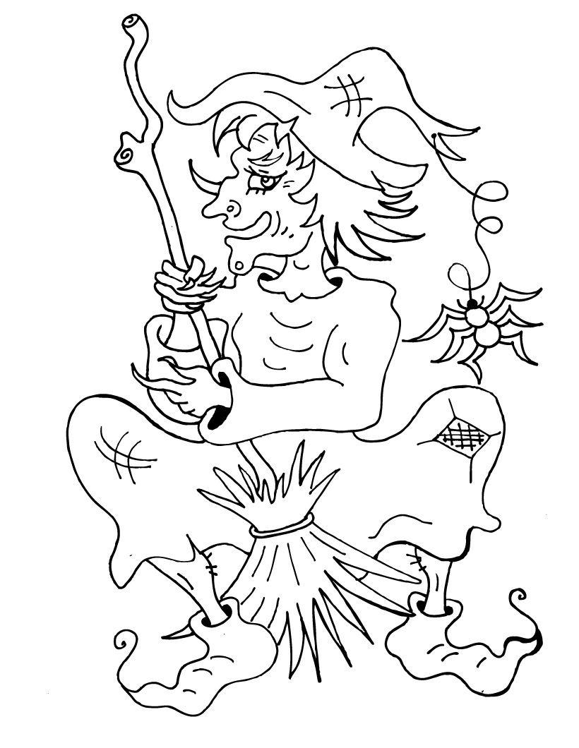 Witch Coloring Pages Coloring