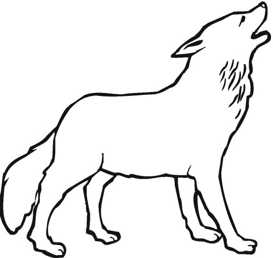 wolves coloring pages - photo#12