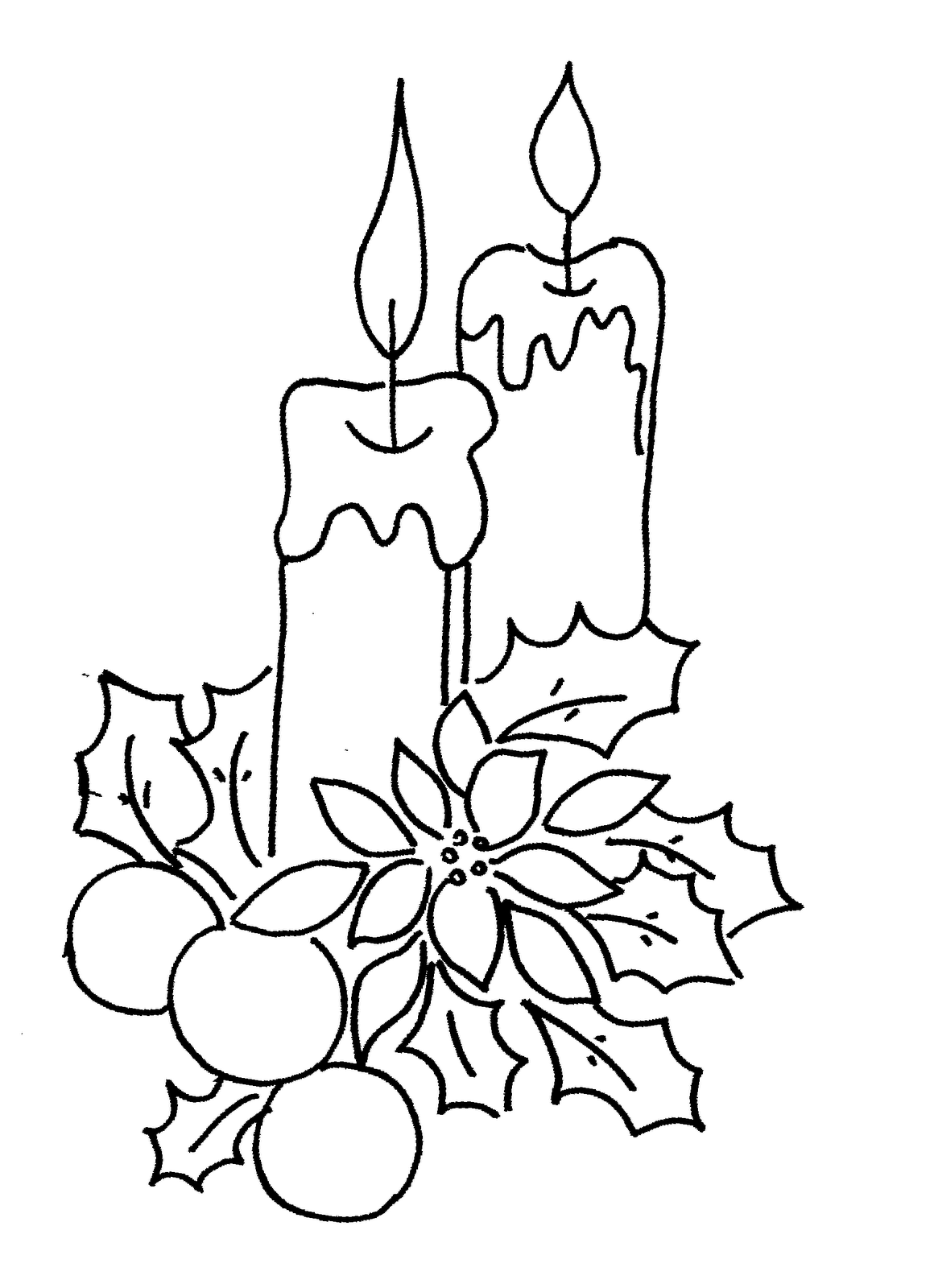 Xmas coloring book pages - Xmas Coloring Pages 4