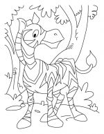 zebra coloring pages 3
