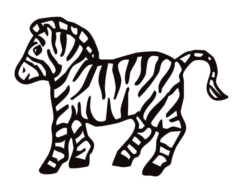 zebra coloring pages free - photo #6