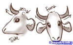 how to draw a cow 4