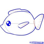 how to draw a fish 6