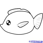 how to draw a fish 7