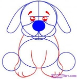 how to draw a puppy 3