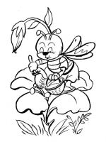 bee coloring pages 3