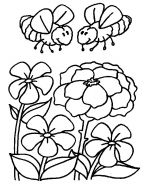 bee coloring pages 4