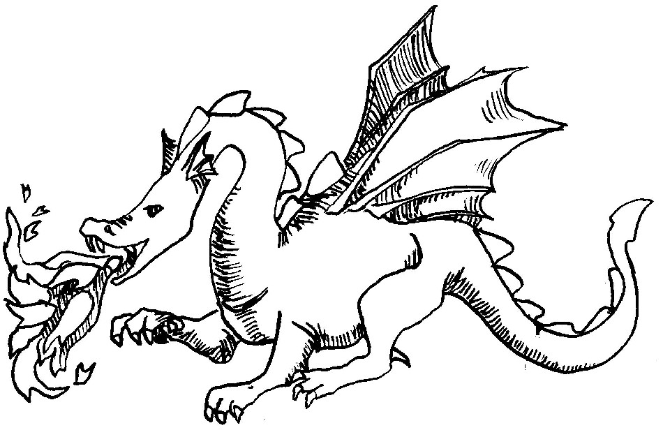 Dragon Coloring Pages 2   Coloring Pages To Print