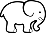 elephant coloring pages 2