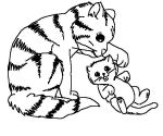 cats farm coloring pages