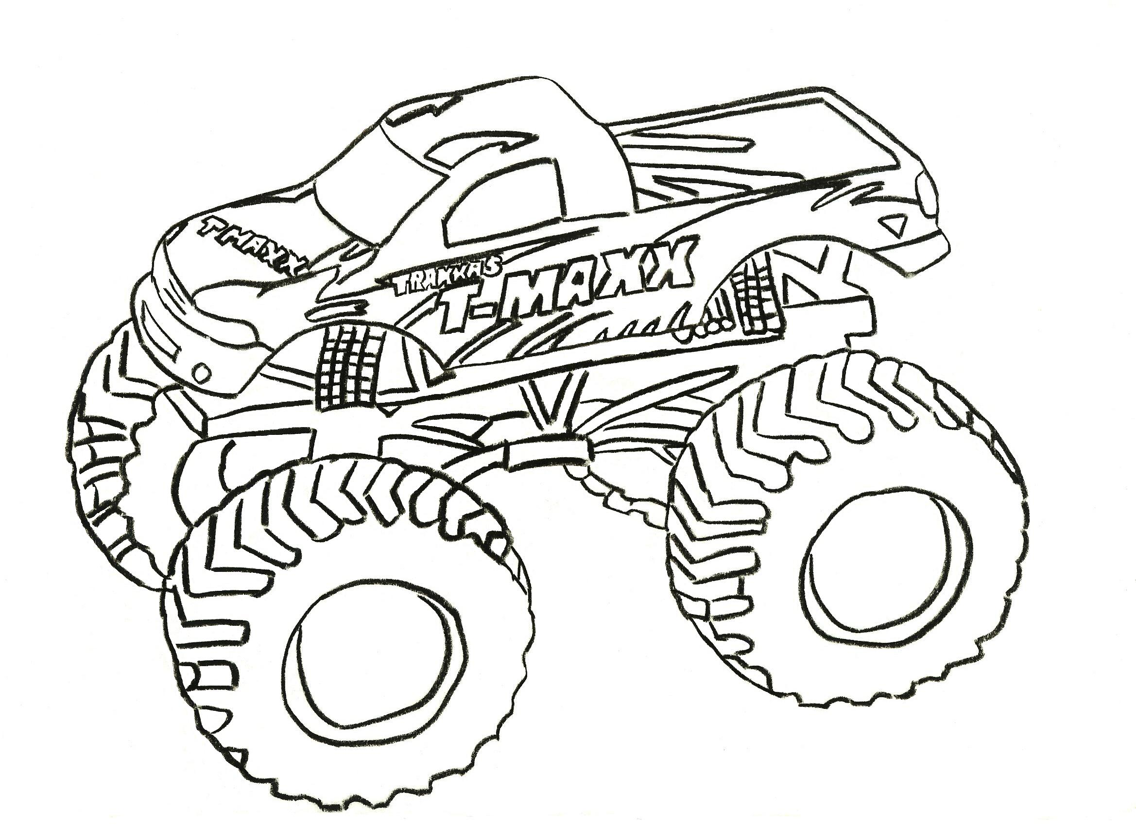 It is an image of Fabulous monster truck coloring pages.com