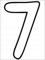 number coloring pages 7