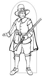 pilgrim coloring pages 2