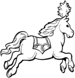 pony coloring pages 1