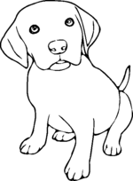 puppies coloring pages 3