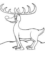 reindeer coloring pages 3