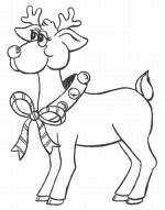 reindeer coloring pages 4
