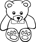teddy coloring pages 2