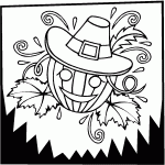 smiling pumpkin thanksgiving coloring pages