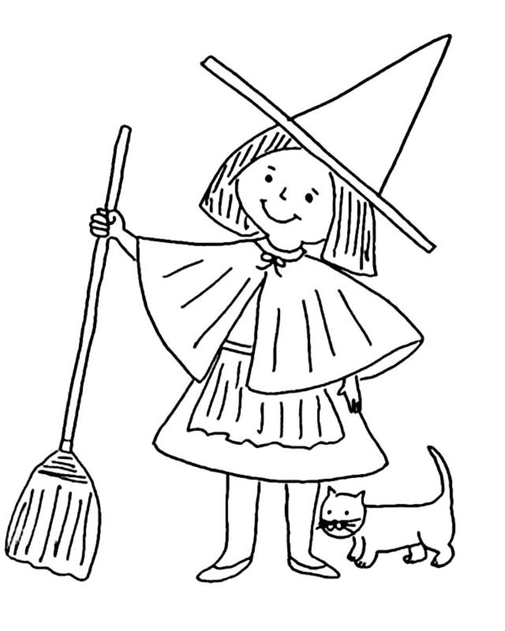 Witch Coloring Pages 3 | Coloring Pages To Print